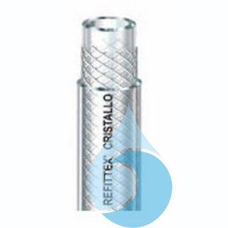 Refittex Cristallo, 50m  6mm x 12mm transparenter PVC-Gewebeschlauch