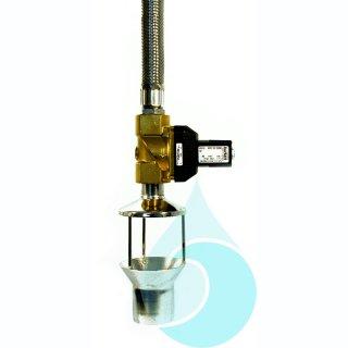 Trinkwassernachspeisung mit freiem Auslauf, elektrisch gesteuert,       1 freier Trinkwasser-Auslauf