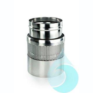 Einlaufberuhigung aus Edelstahl, Innendurchmesser 222 mm