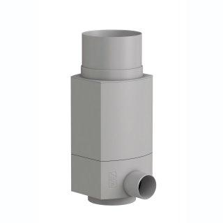 Regensammler RS für Metall-Fallrohr DN 100, Außendurchmesser 102 mm, grau