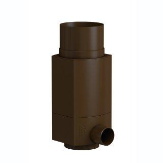 Regensammler RS für Metall-Fallrohr DN 100, Außendurchmesser 102 mm, braun