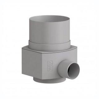 Raincatcher RC für KUNSTSTOFF-Fallrohr DN 100 , Außendurchmesser 110 mm, grau