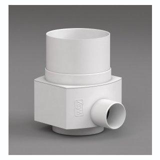 Raincatcher RC für Metall-Fallrohr DN 100 Außendurchmesser 102 mm, weiß