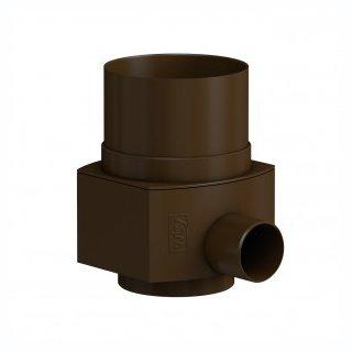 Raincatcher RC für Metall-Fallrohr DN 100 Außendurchmesser 102 mm, braun
