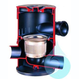 Wisy Wirbel-Fein-Filter 100 ohne Verlängerungsrohr, Maschenweite 0,44 mm