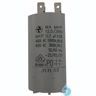 Kondensator 12,5 uF mit Steckkontakt für RMQ