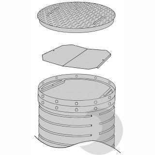 Stahldeckel befahrbar bis 60 t (DIN 1072/SLW60)