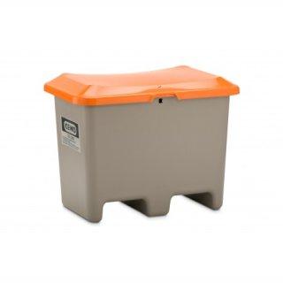 Streugutbehälter Plus 3 200 Liter ohne Entnahmeöffnung mit Staplertasche Behälter grau/orange
