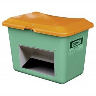 Streugutbehälter Plus 3 200 Liter mit Entnahmeöffnung ohne Staplertasche Behälter grün/orange