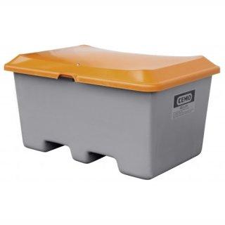 Streugutbehälter Plus 3 400 Liter ohne Entnahmeöffnung mit Staplertasche Behälter grau/orange