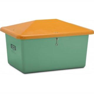 Streugutbehälter V 550 Liter ohne Entnahmeöffnung grün/orange