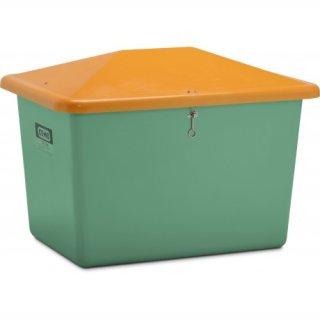 Streugutbehälter V 700 Liter ohne Entnahmeöffnung grün/orange