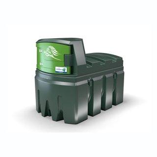 FuelMaster Dieseltankanlage 2500 L, Zählwerk K600, 72 l/min, 6 m Abgabeschlauch mit Schlauchaufroller ohne Dieselölfilter