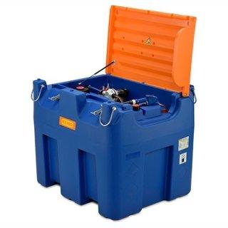 Blue-Mobil Easy M 980 Liter mit Elektropumpe 12 V ohne Zählwerk K24 mit Klappdeckel mit Kranösen