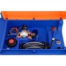 Blue-Mobil Easy M 980 Liter mit Elektropumpe 12 V mit Zählwerk K24 mit Klappdeckel mit Kranösen