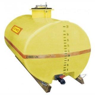 GFK-Fass (oval) 5000 Liter Dom 420 mm hinten