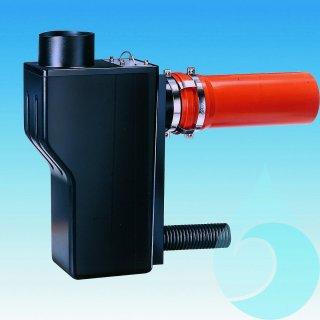 Multisiphon mit Rückstausicherung, Sicherungsschelle ohne Kleintierschutz