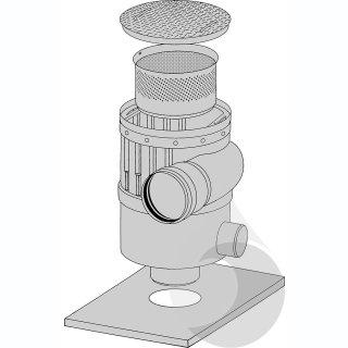 Zwischenring zur Aufnahme des Verlaengerungsrohres RV1010 für Regensp. WFF 300, Versickerungsanl.