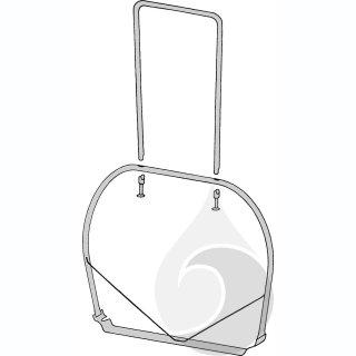 Verlängerungsbügel aus Edelstahl für WFF 300 L=100 cm