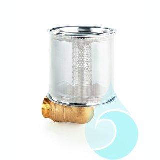 """Festmontierter Ansaug-Fein-Filter (FAFF) zum direkten Anschluss an 1 1/4-Pumpen-Saugstützen"""""""