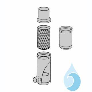 Gehäusetopf für Filtersammler (Nennweite ist anzugeben) aus Edelstahl