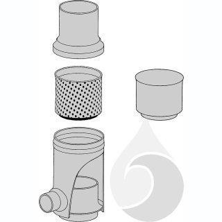 Filtereinsatz f. Regensammler, 440 mm Maschenweite f. alle Nennweiten