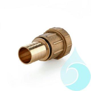 """PE-Rohrverschraubung aus Messing zum Verbinden von PE-Rohr mit Schlauch, gerade 32 mm x 1-Tuelle"""""""